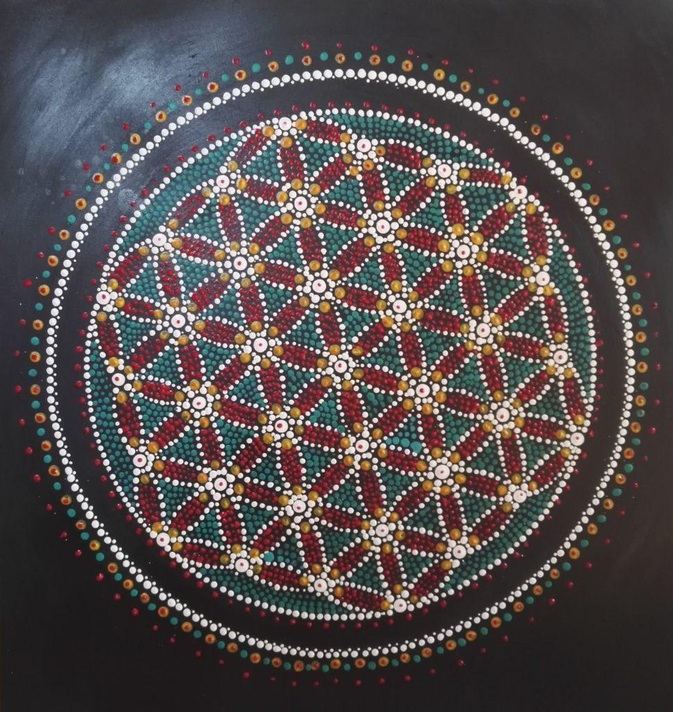 Květ života - dot painting