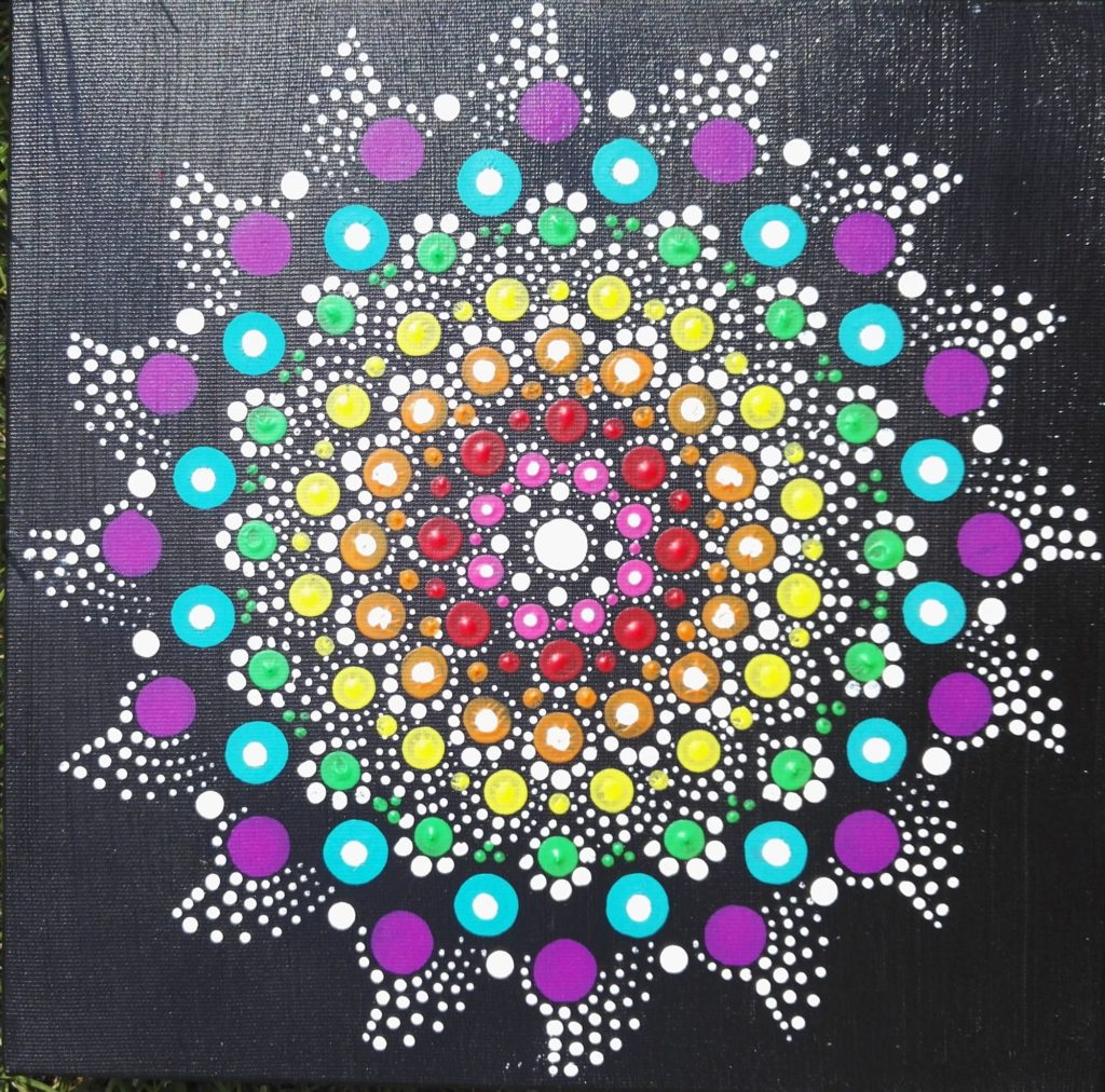 Mandala metodou dotpainting